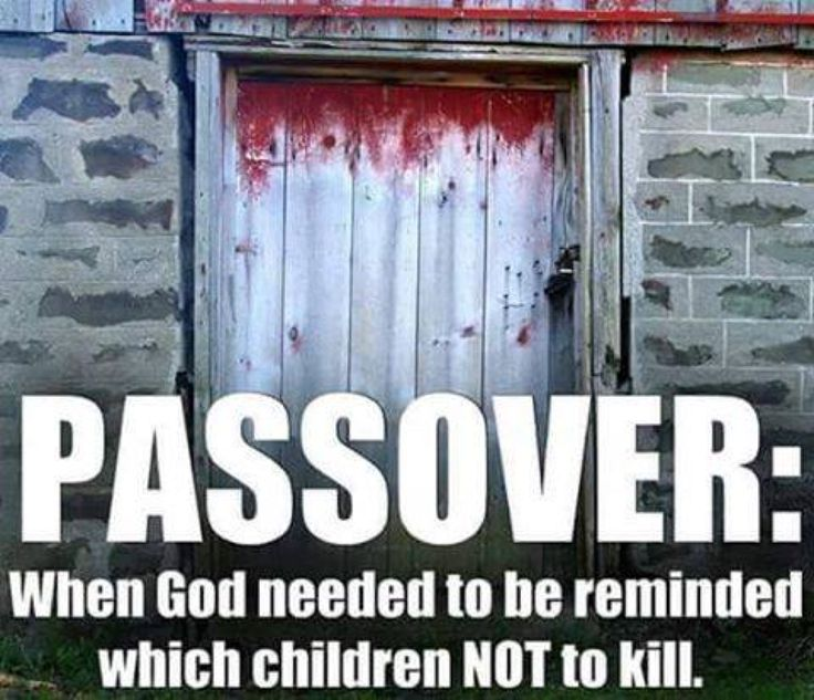 Because the omniscient and moral god of the bible works best with visual aids when killing children.