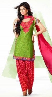 Ravishing Aloe Vera Green Salwar Kameez