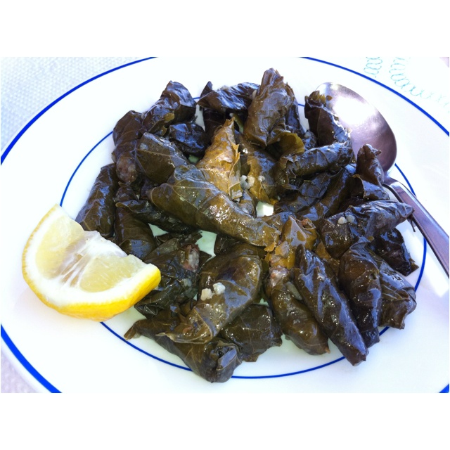 Forget anything you know about Greek dolmades... These are tiny and lemony and meaty. From the island Kasos in Greece. Where I'm originally from, generations back.
