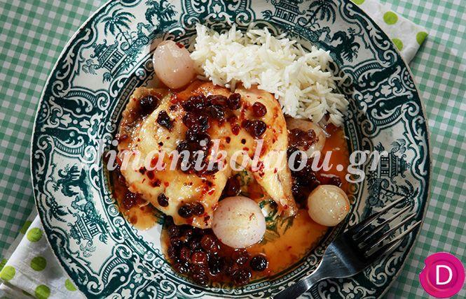 Κοτόπουλο πικάντικο και μελωμένο στην κατσαρόλα   Dina Nikolaou