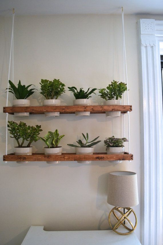 2 Tier Hanging Indoor Wall Planter (made to order)