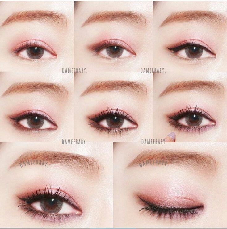 Asian pink eye makeup
