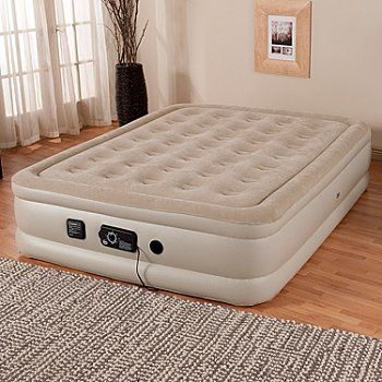 "Serta® Perfect Sleeper® 18"" Profile Air Mattress w/ Never Flat™ Pump ShopNBC.com"