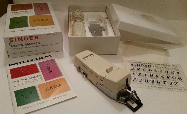 Singer Monogrammer No. 171256 in Original Box | Crafts, Sewing, Sewing Machine Accessories | eBay!