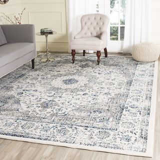 Safavieh Evoke Beige/ Turquoise Rug (9' x 12') | Overstock.com Shopping - The Best Deals on 7x9 - 10x14 Rugs