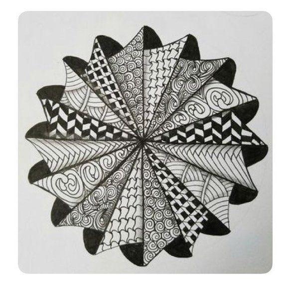 How To Draw A 3d Loch Ness Monster Zentangle Patterns Zentangle