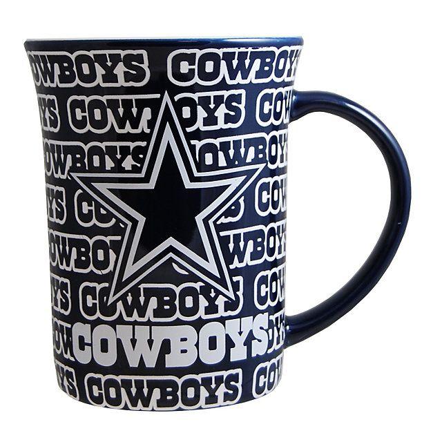 Dallas Cowboys Line Up Mug | Glassware | Home & Office | Accessories | Cowboys Catalog | Dallas Cowboys Pro Shop