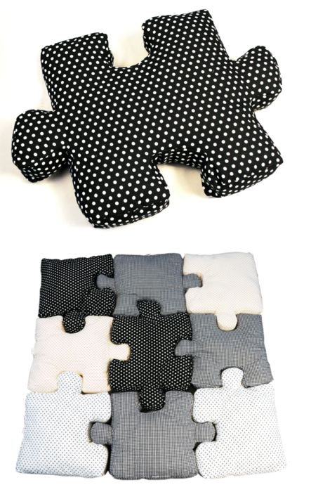 puzzle piece pillows - clever and cute