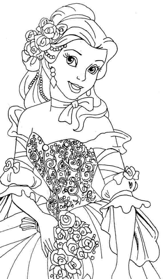 Belle Coloring Pages For Preschool Belle Coloring Pages Disney Coloring Pages Princess Coloring