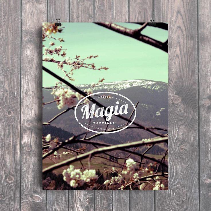 Plakat motywacyjny: Magia