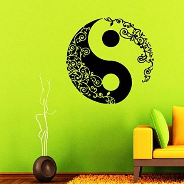 Wall decal vinyl sticker decals art home decor mural for Decoration murale yin yang