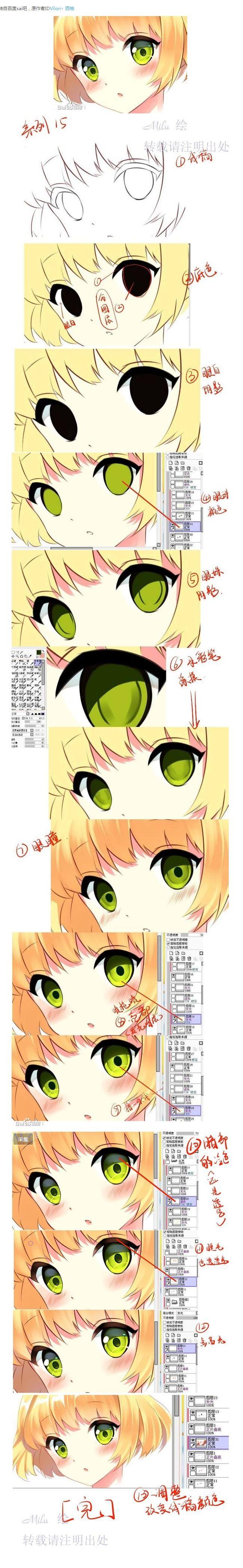 文章-【转载】眼睛画法教程十五 | 半次...