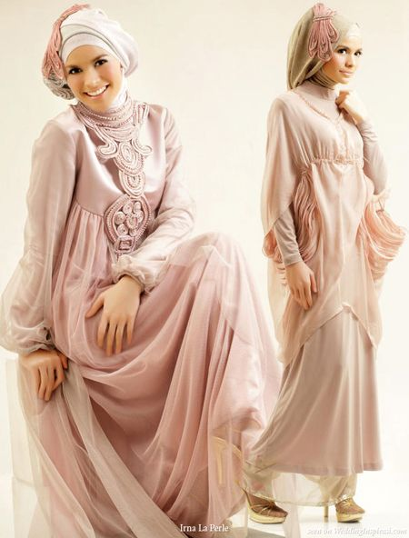 Hijab Wedding Gowns by Irna La Perle