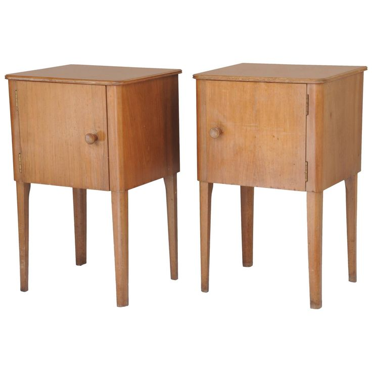 Pair of Mid-Century Modern Nightstands Designed by Gordon Russell