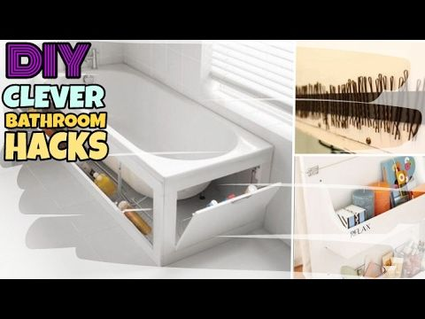 Nifty 15 Diy Bathroom Hacks Life Saving Nifty Buzzfeed Youtube 1 Clean Pinterest