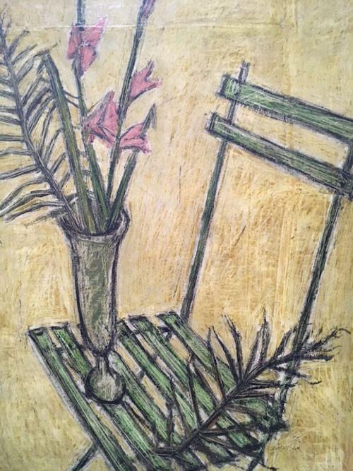 #art #artparis #arty #exposition #expositionparis #exhibition #culture #peinture #bernard #buffet #peinture #musée #mam #painting #flowers