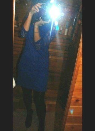 #c&a #koronka #koktajl #chaber #shine #night Kup mój przedmiot na #vintedpl http://www.vinted.pl/damska-odziez/sukienki-wieczorowe/11927897-chabrowa-koronkowa-sukienka-36s