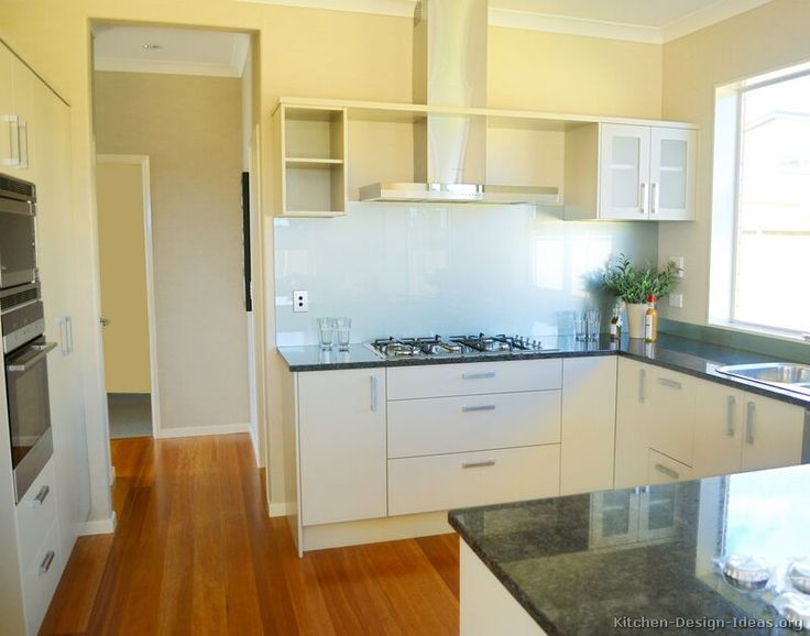 Modern White Kitchen Cabinets #50 (Kitchen-Design-Ideas.org)