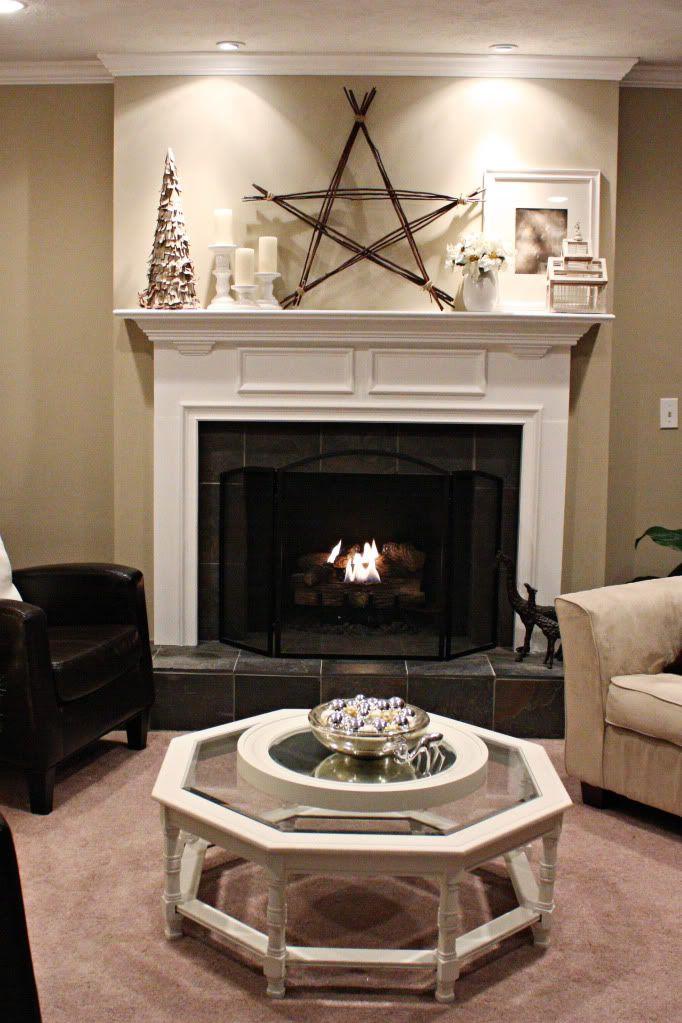 DIY star for wintertime mantle? love!