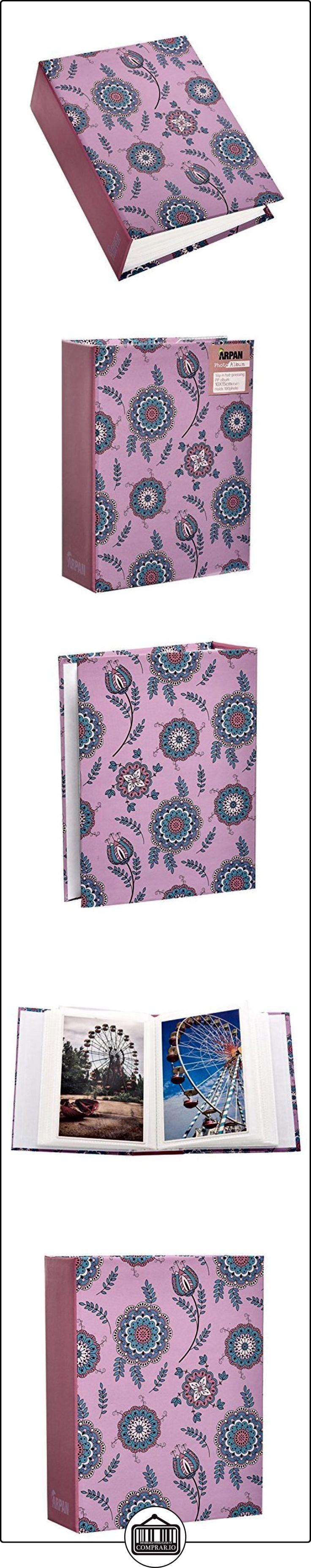 De la pequeña 6 x cm 10,16 Arpan moderno de diseño de zapatillas y de flores de color rosa de fotos en diferentes tonos álbum de fotos de bebé diseño con motivos geométricos de para niños álbum de fotos de bebé - Ranura para tarjetas de 100 para fotos tipo libro  ✿ Regalos para recién nacidos - Bebes ✿ ▬► Ver oferta: http://comprar.io/goto/B015J9QGMW
