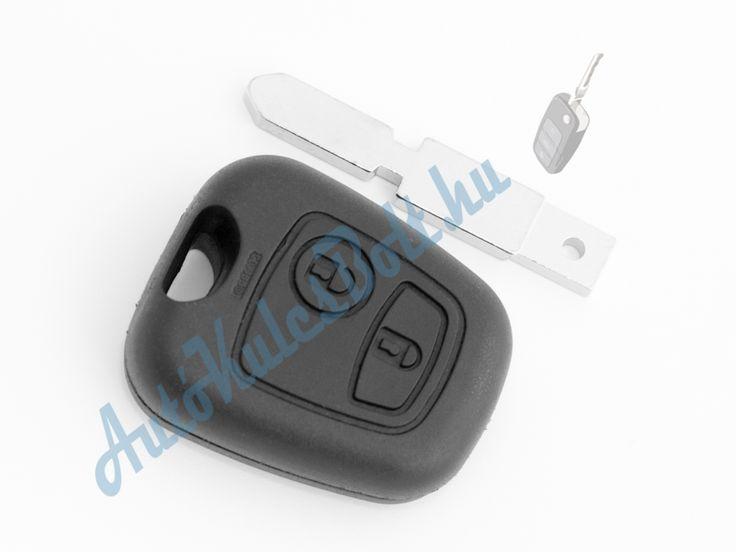 Citroen két (2) gombos kulcsház 406-os szárral. Elem, elektronika és immobiliser chip nélkül. Logót, márkajelzést nem tartalmaz.  http://autokulcsbolt.hu/citroen-kulcshazak/citroen-ketgombos-kulcshaz-406-os-kulcsszarral