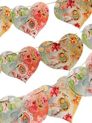 Paper Heart Garland from Daphne's Diary