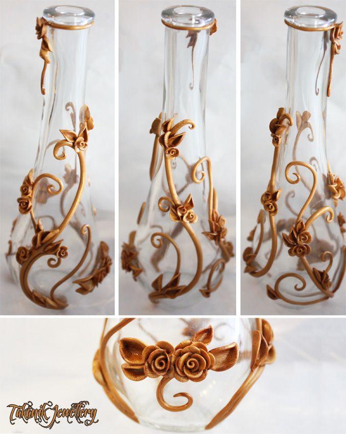 .: Gold Vines and Roses Vase :. by ~tanya1 on deviantART