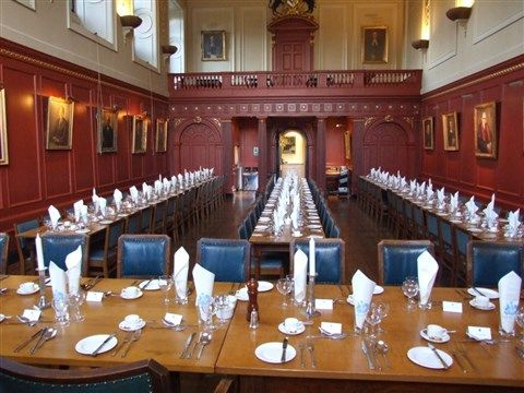 Enjoyed meals in the magnificent rococo dining hall in Sidney Sussex College, Cambridge.