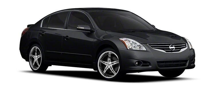 Super Buy Tires: 2007 Black NISSAN ALTIMA SE Asanti Wheels AF144 Chrome with Black Inserts