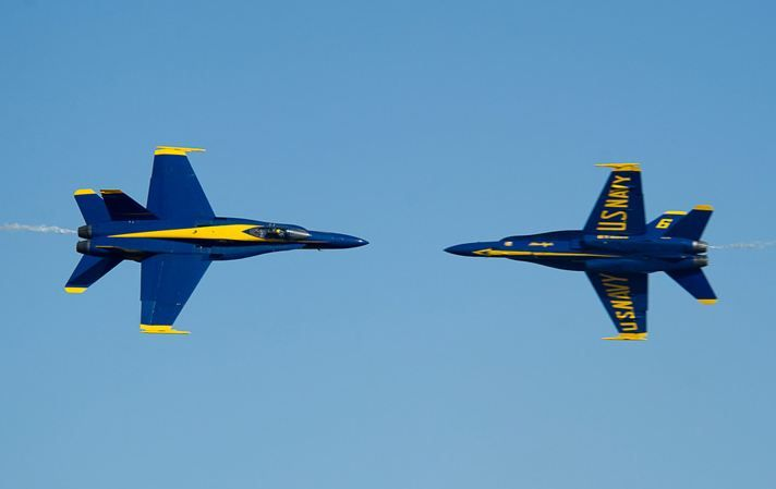 Photo courtesy of Blue Angels. For local military coverage visit www.weartv.com.