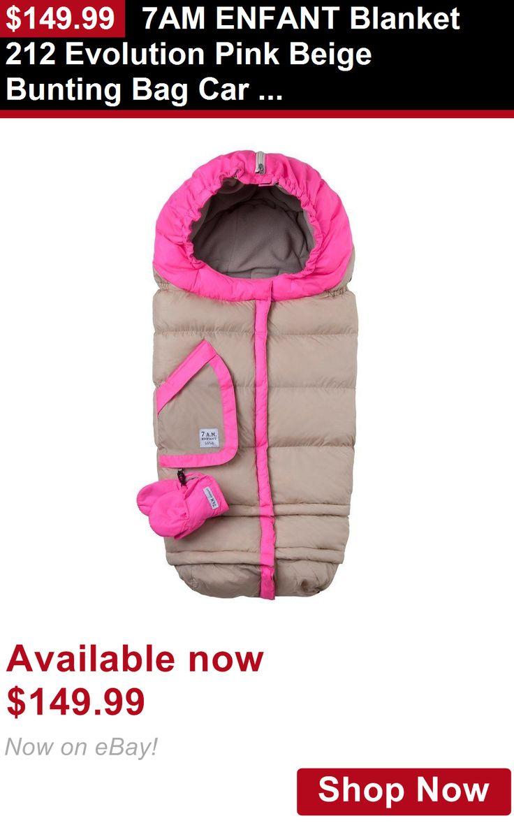 Other Stroller Accessories: 7Am Enfant Blanket 212 Evolution Pink Beige Bunting Bag Car Seat Stroller New BUY IT NOW ONLY: $149.99