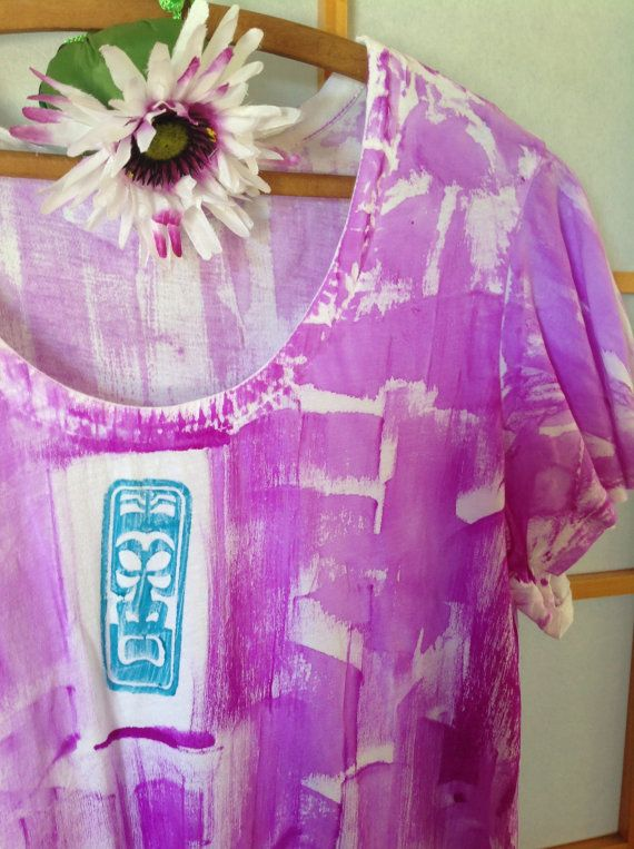 Hand Painted Plus Size Tunic  Hand Painted Tunic by  PetrinaBlakely #integritytt