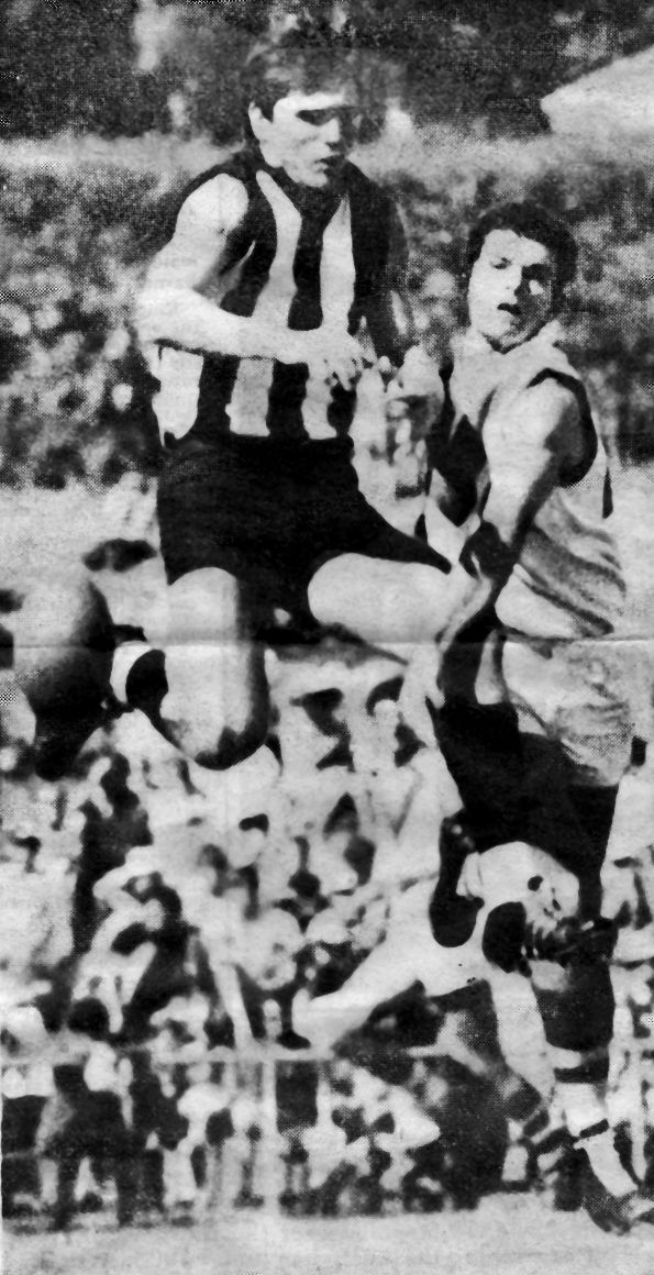 Newspaper Clipping - Peter McKenna (Collingwood) & Grahan Willcocks (South Fremantle) 1969