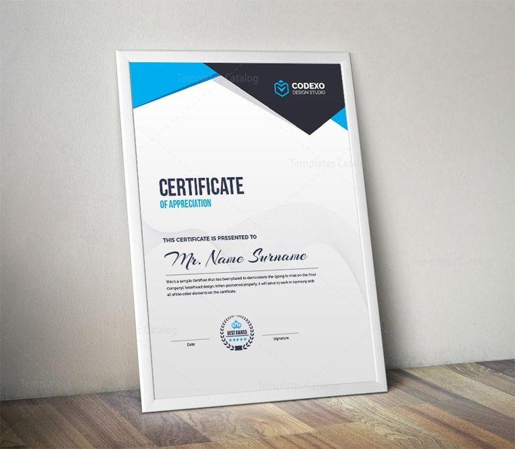 Nemesis Professional Portrait Certificate Template 000870