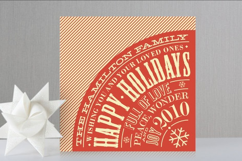 Quite the attractive holiday card for a typography lover.
