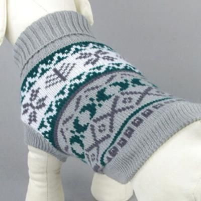 Chihuahua Puppy Chihuahua or Small Dog Light Grey Fair Isle Jumper  – My Chi and Me