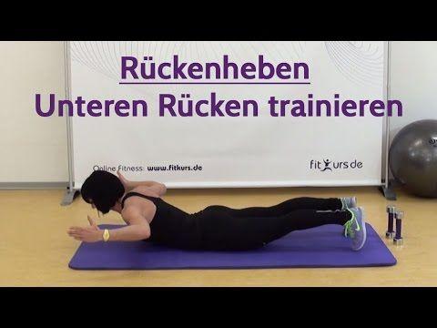 Übung für unteren Rücken: Rückenheben/Rumpfheben..