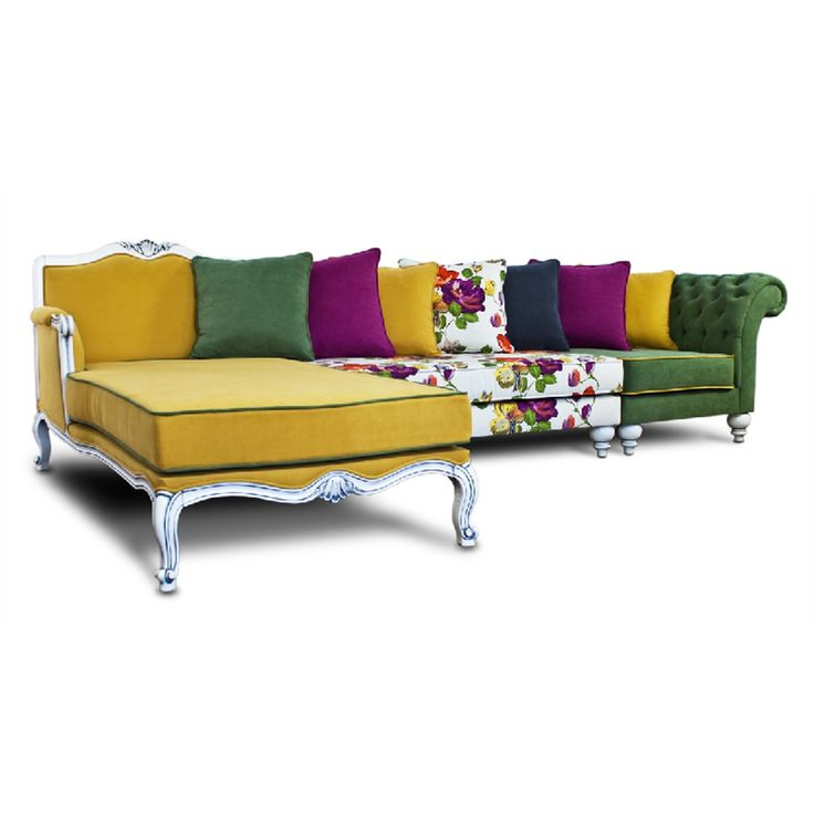 Palermo Yellow Corner Sofa This Striking Multi Coloured Delightful Sofa  Brings Out The Passion For Fashion