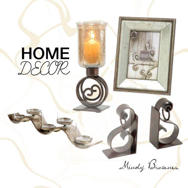 Mindy Brownes Home Decor.  Photo frame, candleholder, bookend, candles.  http://www.standun.com/