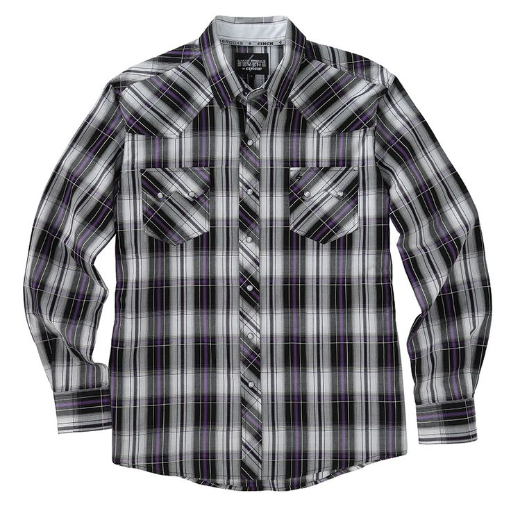 Garth Brooks Sevens by Cinch Plaid Western Shirt