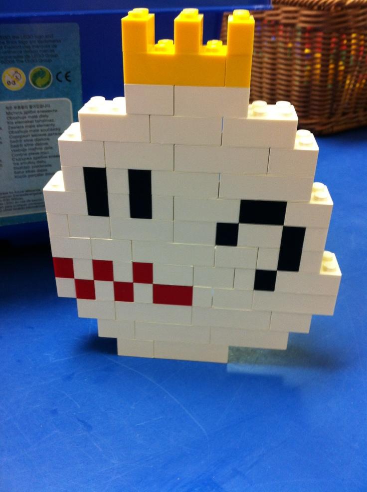 My lego paper mario boo - YouTube