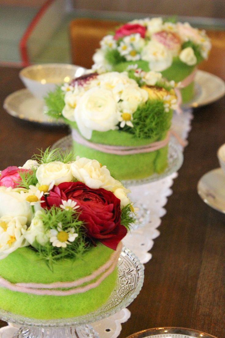 #Blumentörtchen #Tischgesteck #Osterdeko #Tischdeko