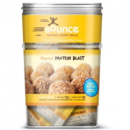 Bounce Natural Energy Balls Peanut Protein Blast 40 Balls X 49g Each at Megavitamins Supplement Store Australia.Peanut Protein Blast provides high quality protein easily assimilated by the body.Peanut Protein Blast  very popular with gym members.