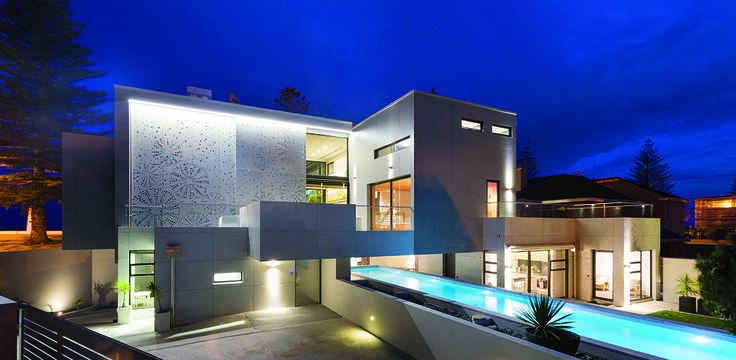 A modern house with swimming pool - designed by Andre Laurent from Creative Space Architecture #house #ADNZ #architecture