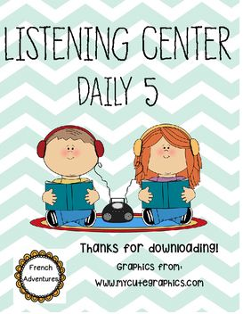 Great handout you can give for the listening center during Daily 5.