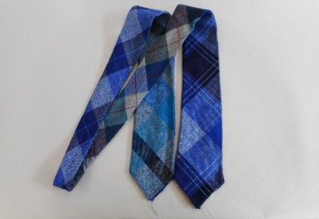 Quad wool tie. Four different patterns on the one tie.