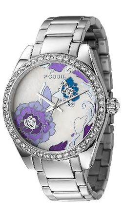 Purple Floral Ladies Watch by Fossil- So pretty!