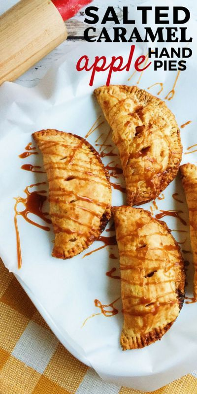 Salted Caramel Apple Hand Pies are a delicious, individually-portioned dessert. These pies have a tender, flaky all-butter pie dough and are filled with cinnamon apples and rich caramel.