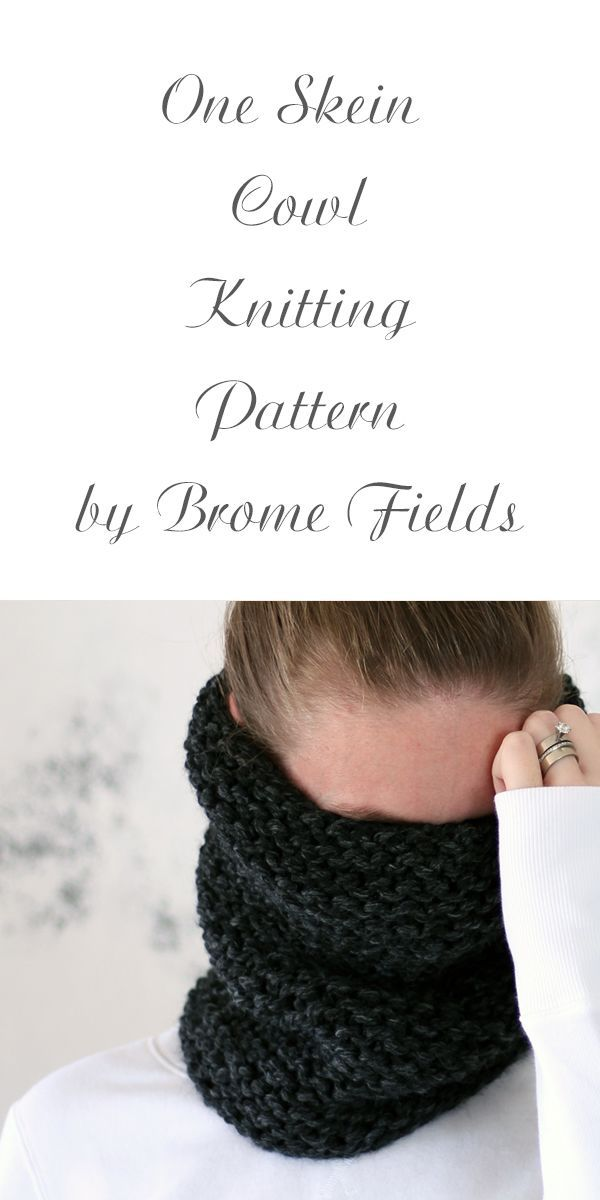 One Skein Cowl Knitting Pattern Gratitude By Brome Fields