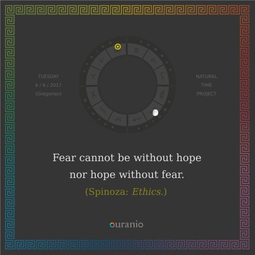 Ouranio.com | Daily quote: Spinoza, «Fear...»